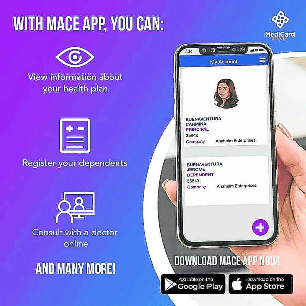 Get help from health professionals right in the comfort of your home through MACE App.    Read more: https://business.inquirer.net/308743/antidote-to-homeschooling-pains#ixzz6aX6OfWVz Follow us: @inquirerdotnet on Twitter | inquirerdotnet on Facebook