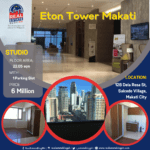 Own a piece of Makati at the heart of Central Business District.