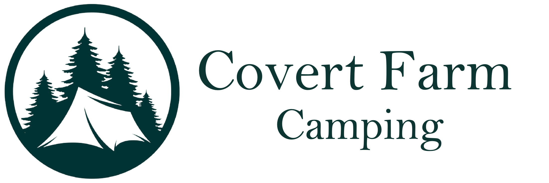 covert farm camping pembrokeshire wales logo