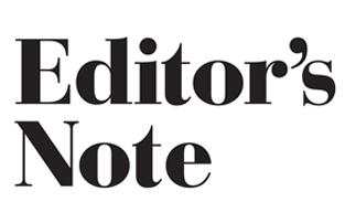 Editor's page