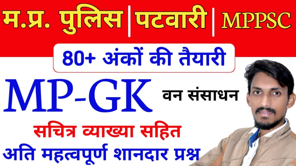 MPGK Revision वन संसाधन important Notes with PDF