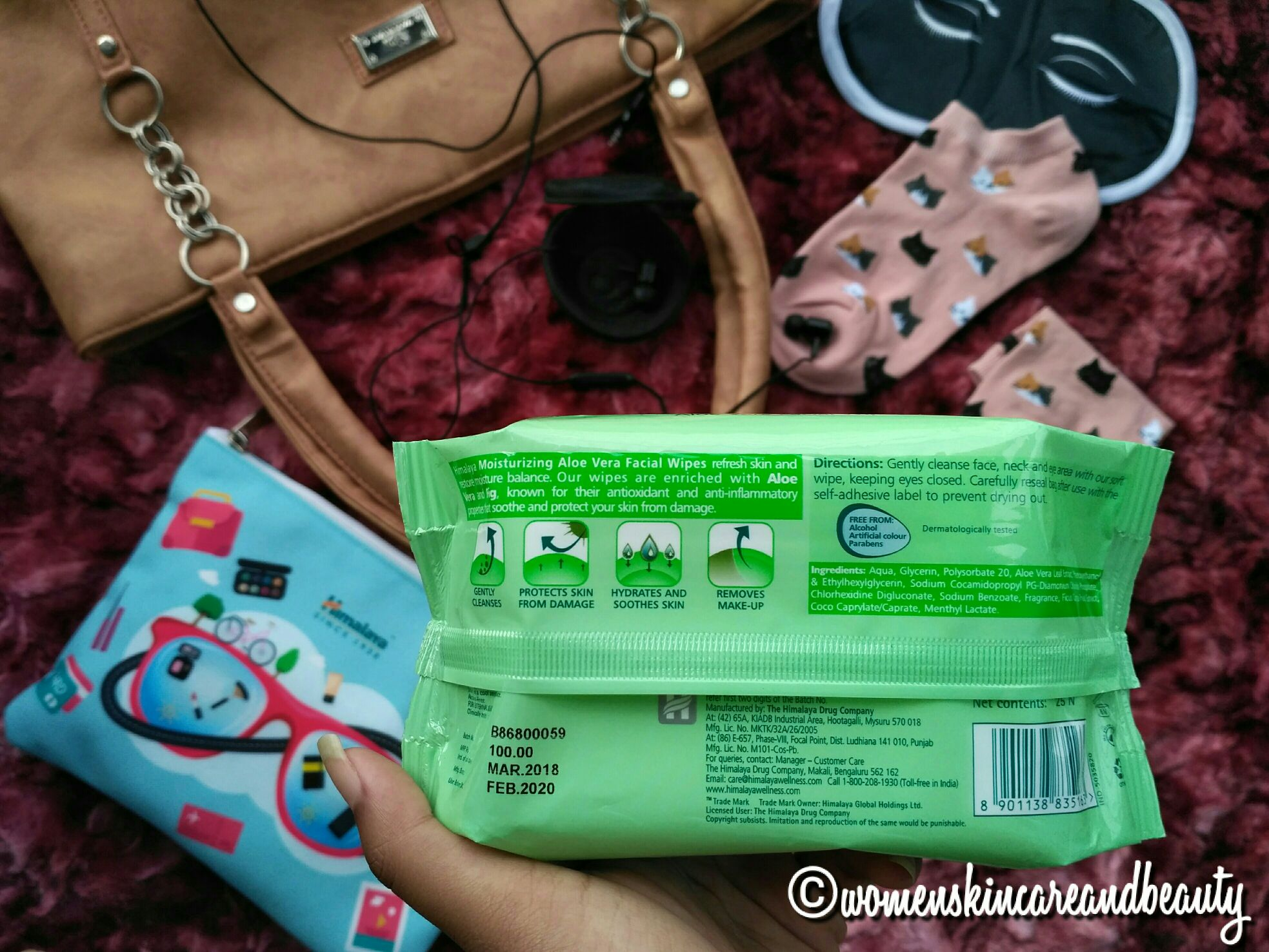 Himalaya facial wipes