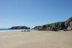 Unspoilt beach