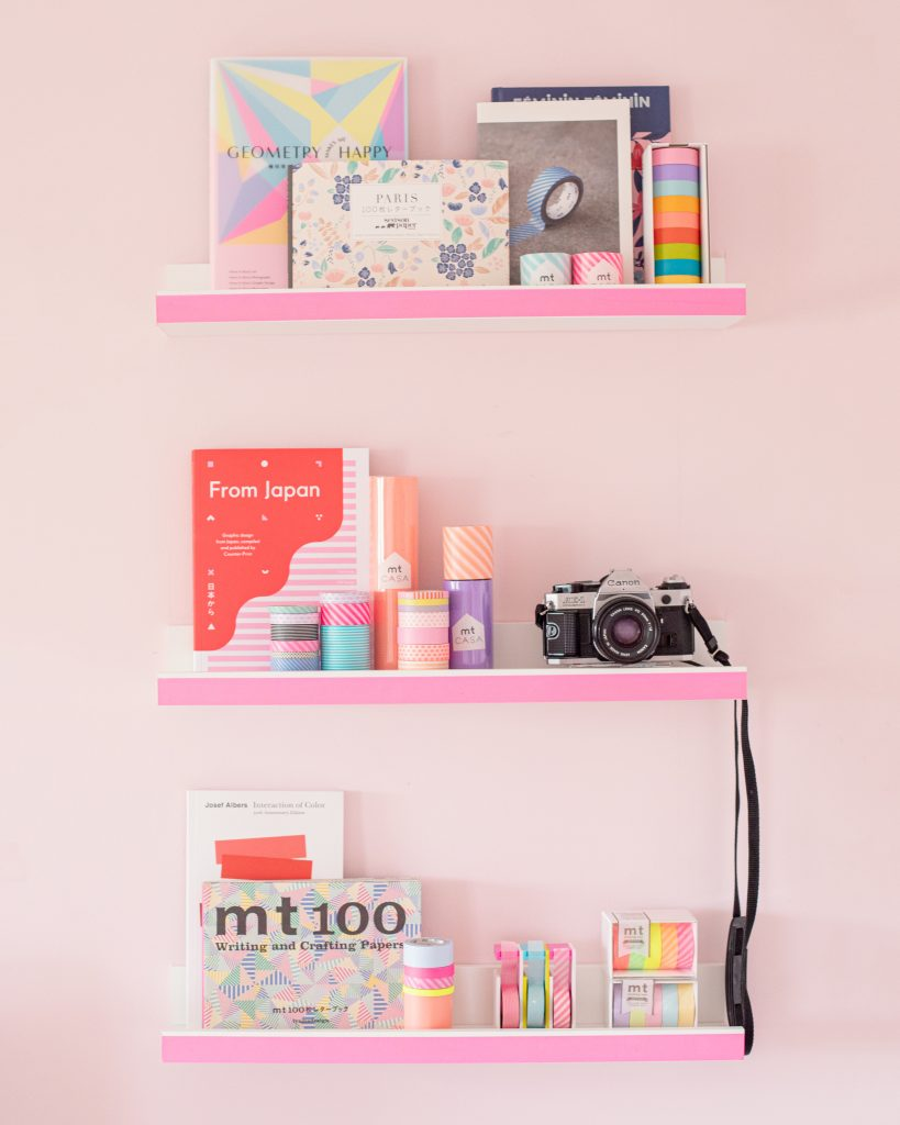 mt washi tape creative studio with colours and japanese books