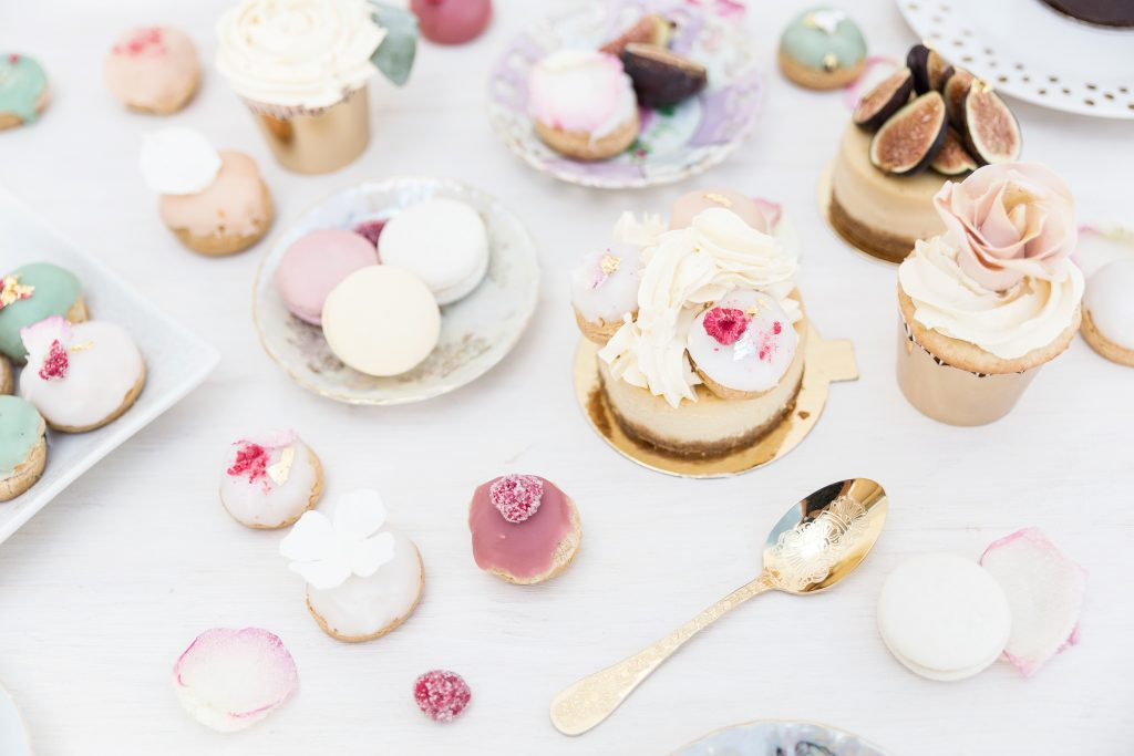 Creative photography and styling for pastries boutique in London