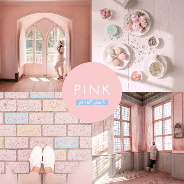 pink presets for lightroom