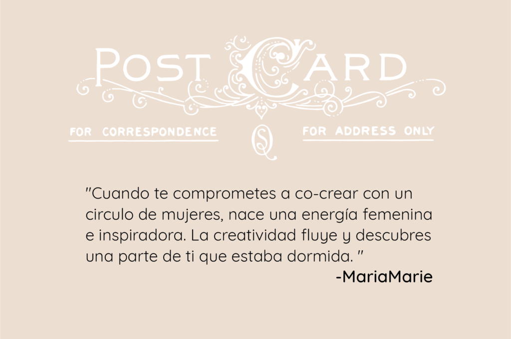quote postales creativas, quote de creatividad Maria Marie