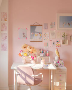 creative studio space by Maria Marie, estudio creativo decoración color pastel por MariaMarie