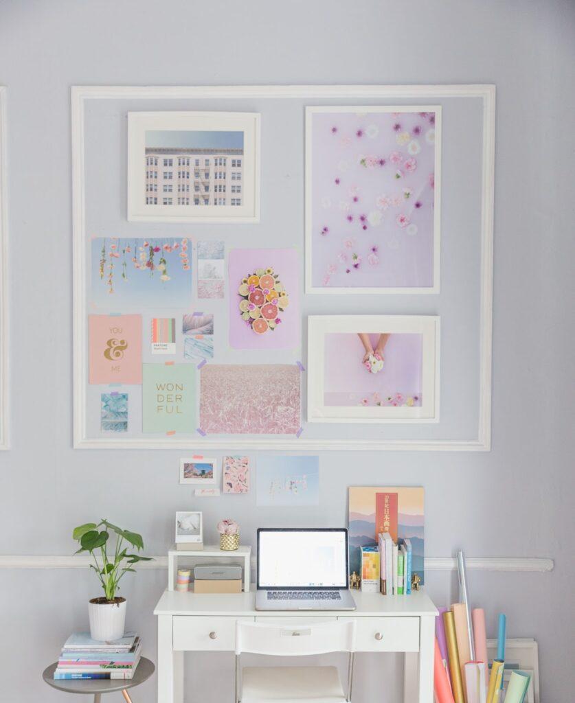 creative space by maria marie, espacio creativo de color pastel lleno de inspiración diseñado por mariamarie