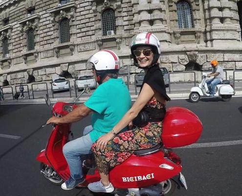 Viaje en scooter
