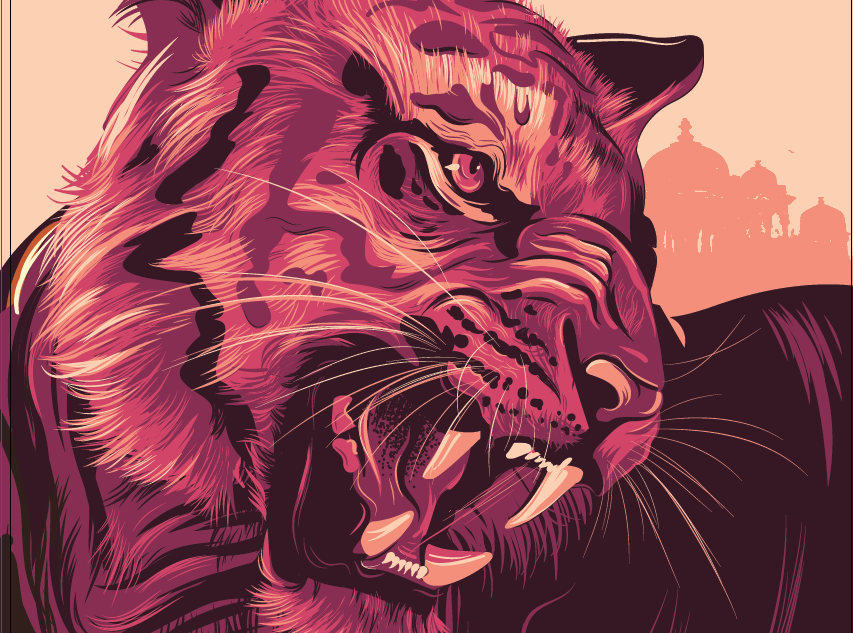 WWF Tiger illustration Poster