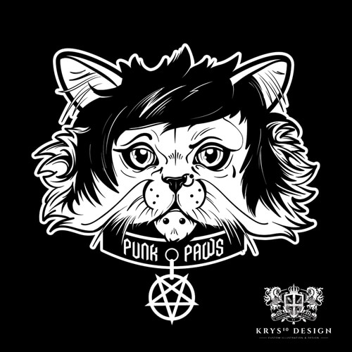 T-Shirt Designs for Punk Paws