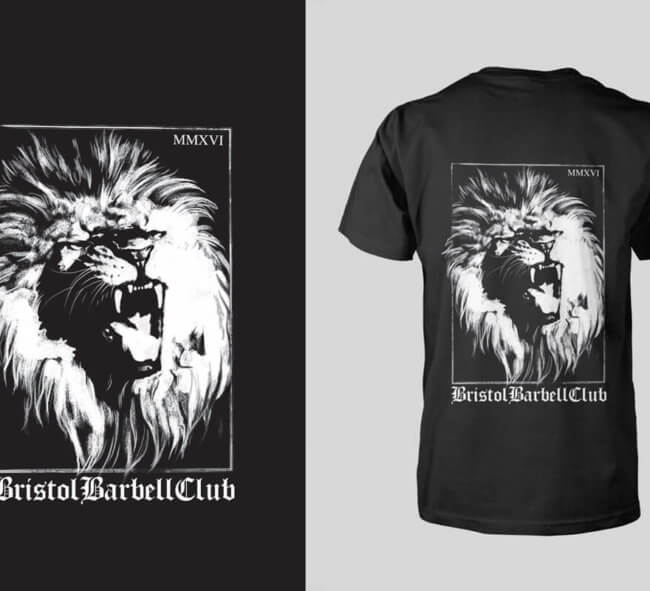 Black and white T-shirt Design