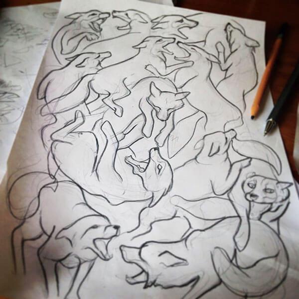 Artist Work In Progress Sketch