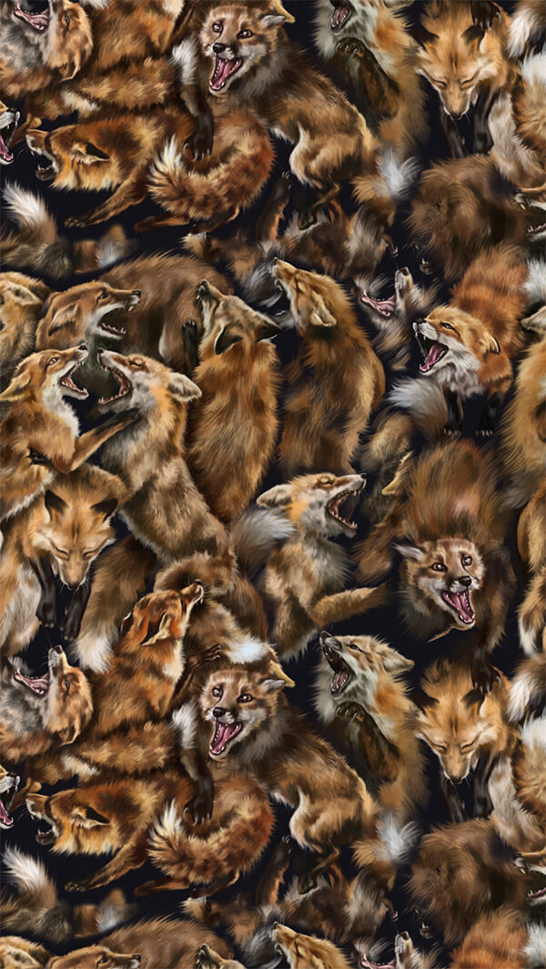 Foxforce Fox Wildlife Art Print