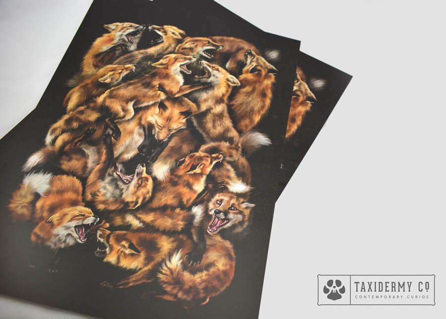 Foxforce Fox Wildlife Art Print