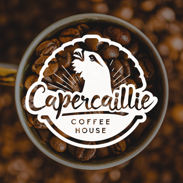 Image of Logo Design for vegan cafe capercaillie coffee house