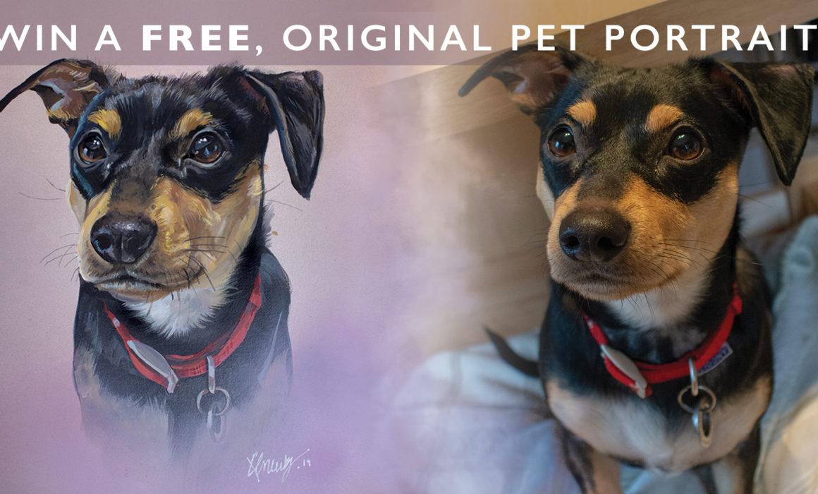 Win a free pet portrait painting
