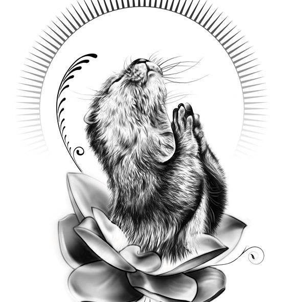 Otter T-shirt design wildlife inspired