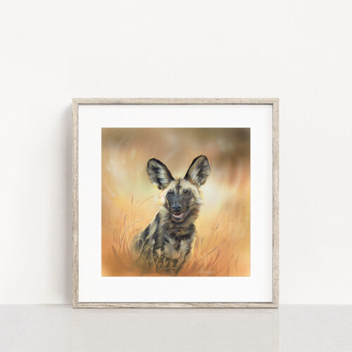 Painted Dog Wildlife Art Print