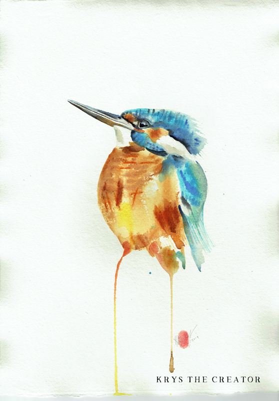 Kingfisher Watercolour Painting