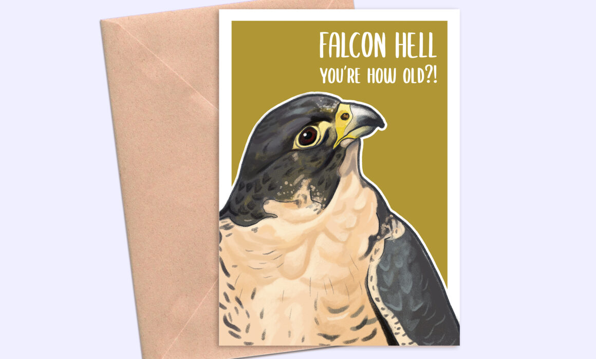 Falcon Hell Bird Greeting Card