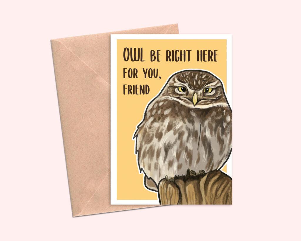 Owl-Greeting-Card