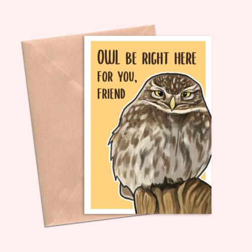 Little Owl-Friend Greeting-Card