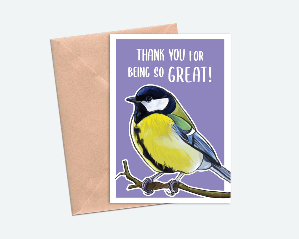 Great Tit Thank You Card