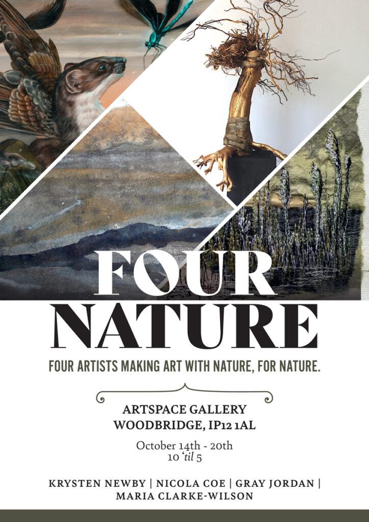 FOUR NATURE Krysten Newby Artist Flyer