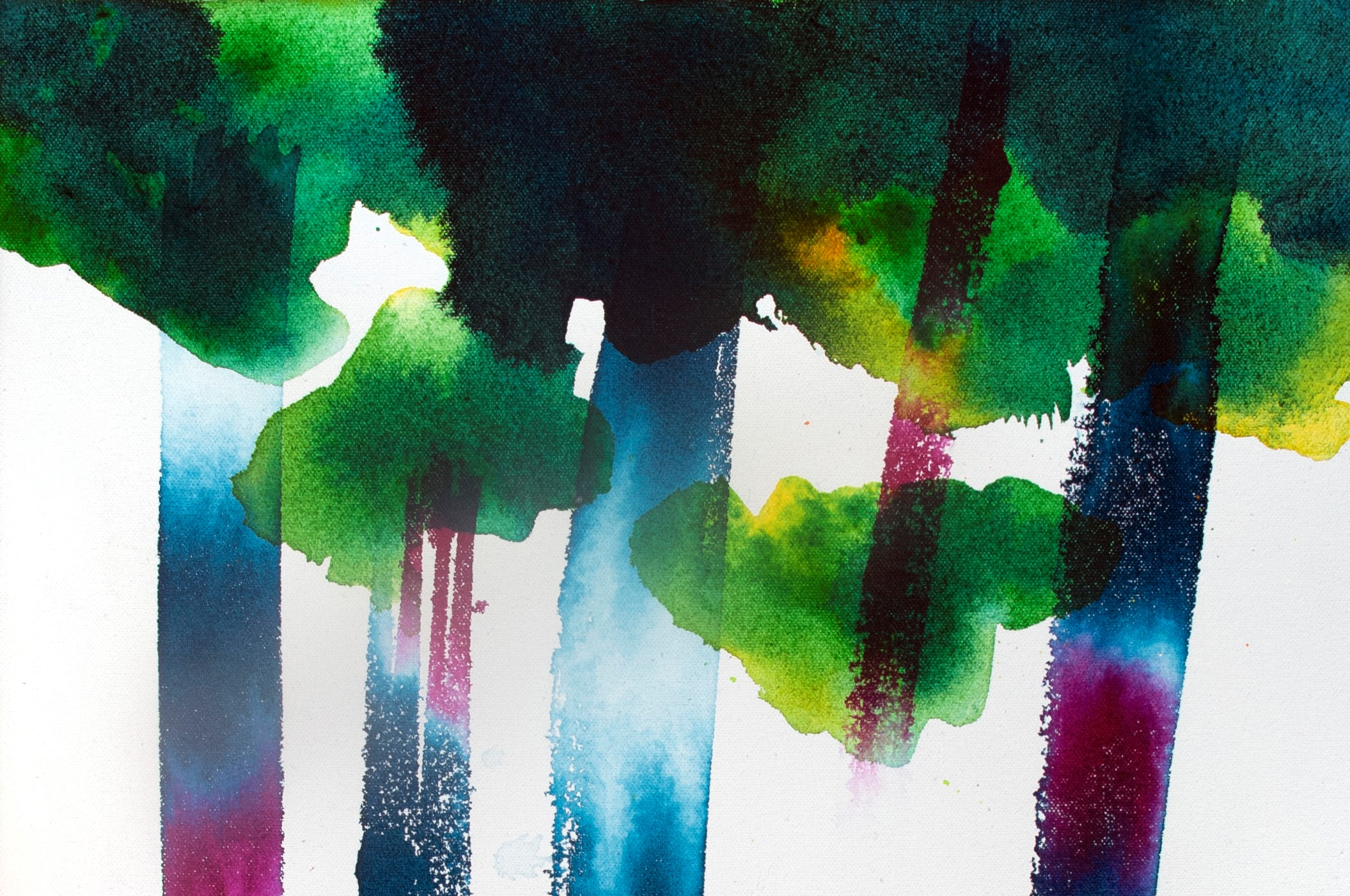 abstract tree paintings