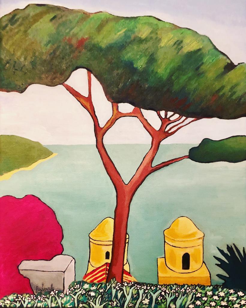 Italian landscape oil paintings