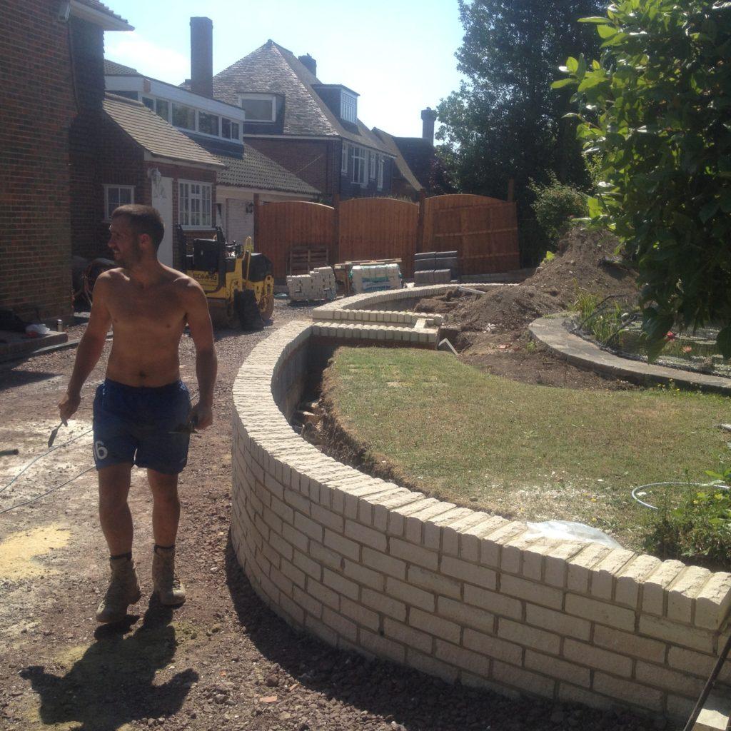 Garden Wall Construction