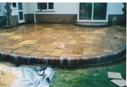 Rear Garden Block Paving