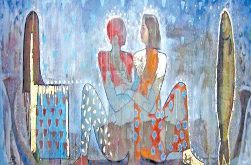 لوحة للفنان رضا عبد الرحمن