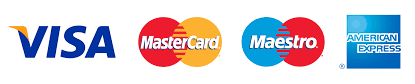 Payment types accepted: Visa, Maser Card, American Express