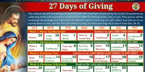 27 Days of Giving Calendar - Month View