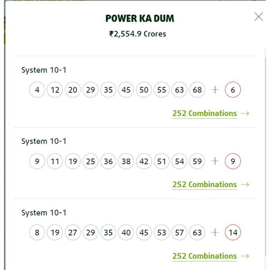 Example Powerball Syndicate