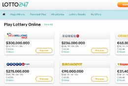 Lotto247 India Homepage