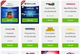 Range of Lottery Jackpots
