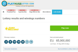 Lottery Results Page