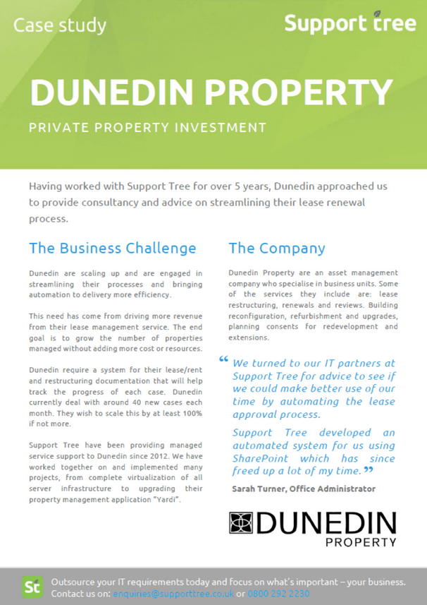 Our property investment client undergoes process change