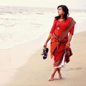 Mazhavil, a saree collection by Red Lotus, by Sharmila Nair Image credit: Fijoy Joseph