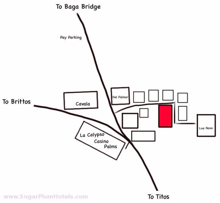 How to reach Sugar Plum Hotels, Baga, Goa