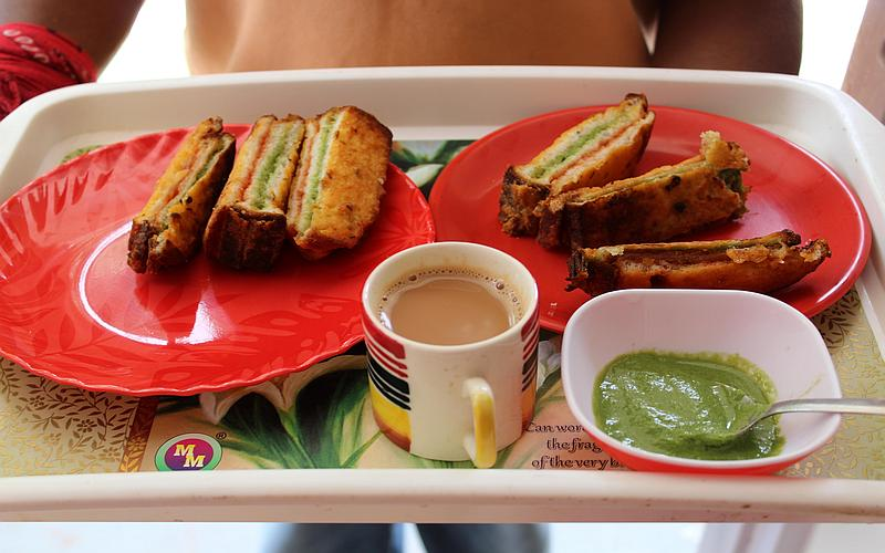 Home cooked Tricolour Pakodas