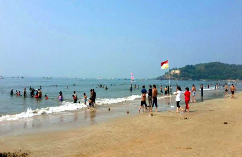 Tourists at Baga Beach