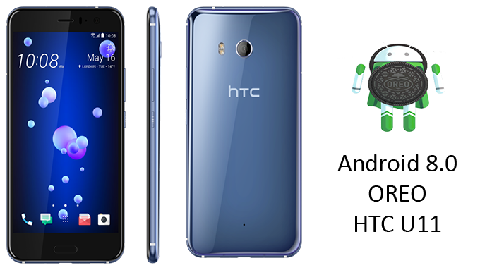 HTC U11 with Android 8.0 Oreo Update