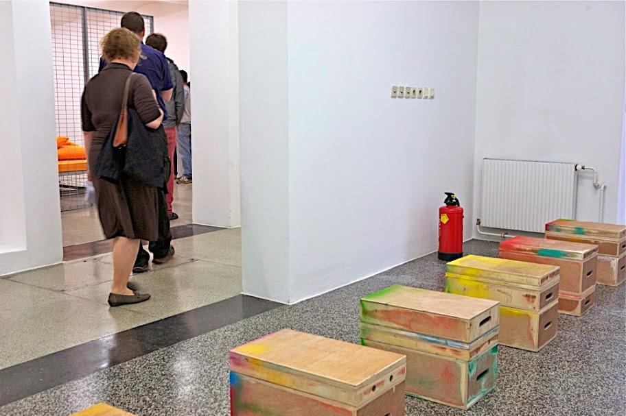 untitled (painted box set), 2014 Secession, Vienna Basement Photo: Oliver Ottenschläger