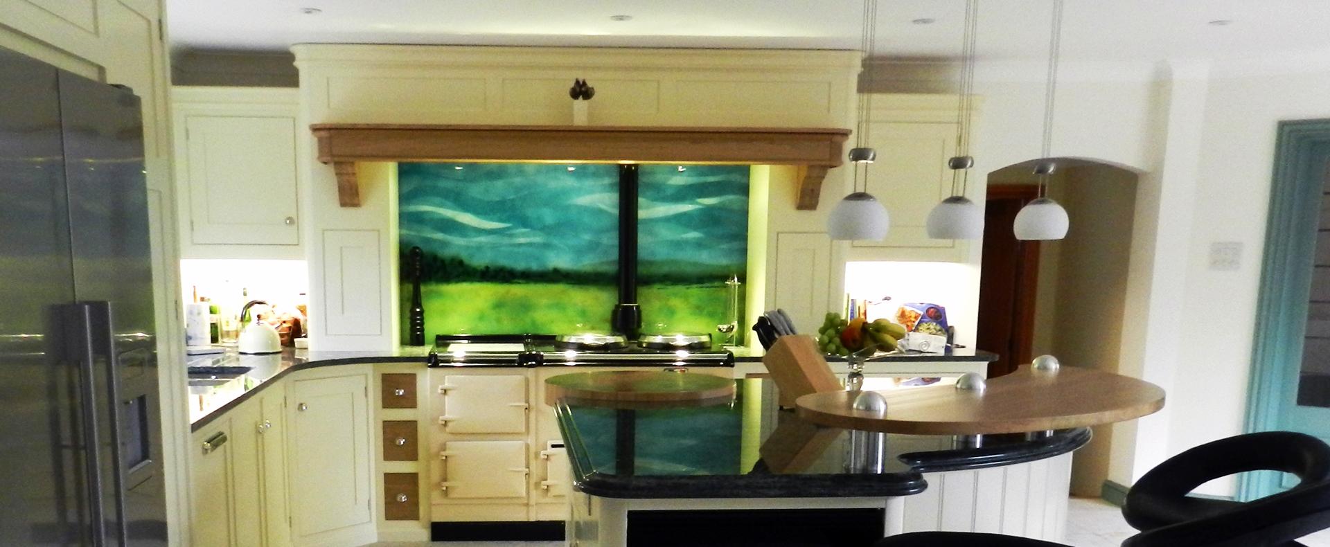 Bespoke commissioned scenic splashback