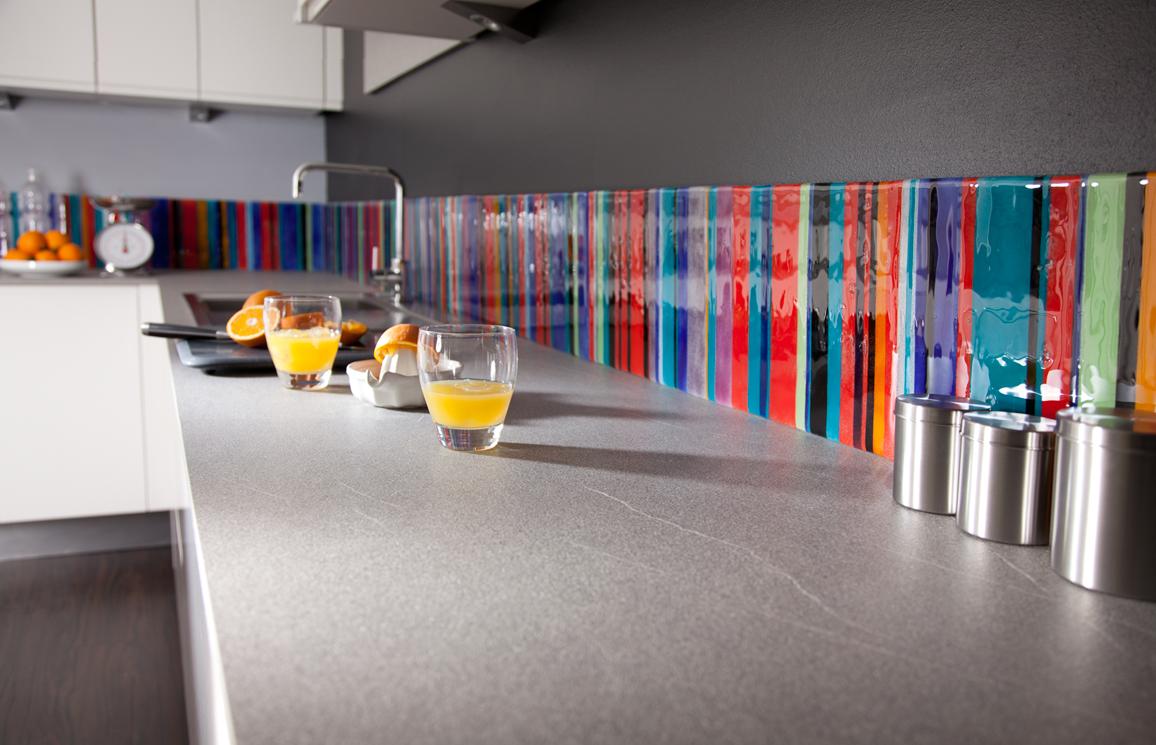 Multicolour stripe splashback commission